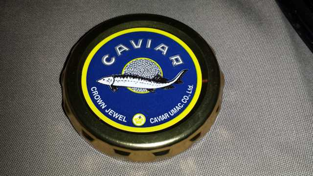 Japan Airlines First Class - Caviar