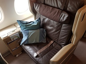 Singapore Business Class Seat 1